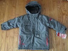 "NWT Marker Boys Size 4 Gray Plaid ""Duke"" Waterproof Winter Snowboard/Ski Jacket"