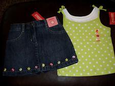 Gymboree Pretty Lady ladybug denim skort skirt & polka dot top NWT 4 4T