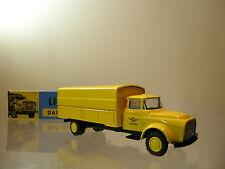 LION CAR 32 DAF 1600 TORPEDO TRUCK 1957 COLOUR YELLOW+BOX SCALE 1:50