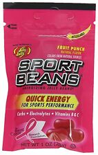 Jelly Belly Candy ~ FRUIT PUNCH SPORT BEANS ~ 24 PACK ~ Energizing ~ FRESH