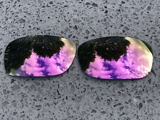 ETCHED POLARIZED ROSE PINK MIRRORREPLACEMENT OAKLEY FIVES SQUARED & 3.0 LENSES