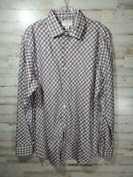 Banana Republic Mens Button Up Shirt Large Slim Fit Long Sleeve 100% Cotton