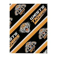 98628 WEST TIGERS WESTS NRL TEAM LOGO GIFT WRAP PRESENT WRAPPING PAPER