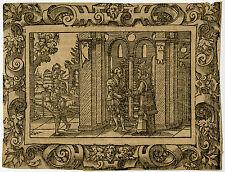 Antique Print-RELIGION-KING DAVID-Solis-1562