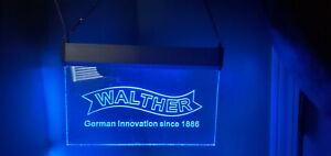Walther arms backlit sign