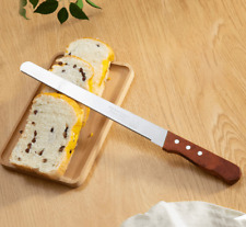12inch Stainless Steel Kitchen Chef Fine Teeth Serrated Pudding Cake Bread Knife