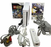 Nintendo RVL-101 USA Wii White Video Game Console  Bundle Gamecube Compatible
