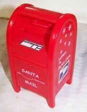 2003 USPS Red Plastic Mail Box Bank, Moving Handle/door, SANTA MAIL logo, Twist