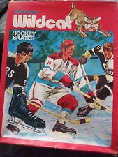 VINTAGE BRAND NEW IN BOX 1960'S-70 AMERICAN WILD CAT ICE HOCKEY SKATES MEN SZ 10