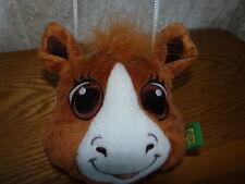 "Wild Republic Clasp Plush COW HORSE Purse W/ Break Away Strap 6"" EUC So Cute!"