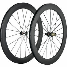 Tubeless Carbon Wheelset 60mm Depth 25mm Width U Shape Carbon Wheels Road Bike