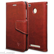 Ceego Luxuria Wallet Flip Cover for Xiaomi Redmi 3S Prime - Walnut Brown