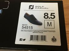 FootJoy FJ Golf Casual Spikeless Black Golf Shoes # 54515 - 8.5 Medium - New