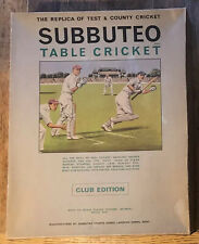 More details for  vintage subbuteo cricket - club edn. boxed. 1969. excellent + complete. lot 4/5