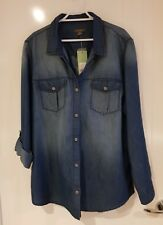 Katies Denim Shirt Blue new with tags 💙
