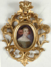 """Portrait of a young lady"", German oil miniature on copper, ca.1660"