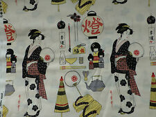 Geisha Girls Fabric Fat Quarter Cotton Craft Quilting Alexander Henry