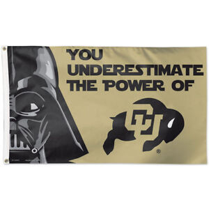 CampusHats University of Colorado Buffaloes Boulder Buffs Black Gold Team Outdoor//Tailgate Flag//Banner 27 x 41