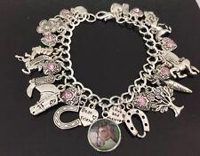 Horse Charm Bracelet, Equestrian, Horse Riding, Rider, Jumper, Gift