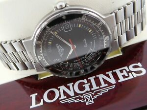 LONGINES CONQUEST Black Dial Ref. 4985 Cal. L156.2 Swiss Vintage Watch & Box