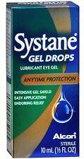 (3) Systane Gel Drops Lubricant Eye Gel Anytime Protection 0.33oz each Box issue