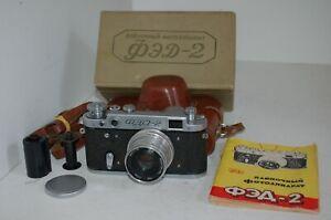 FED 2 (type C3) Vintage 1958 Soviet Rangefinder Camera & Case. 570916. UK Sale