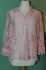 J.H. Collectibles Pink Sheer Button Down size M