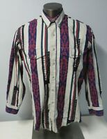 Mens Wrangler Shirt Rodeo Cowboy Western Button Up Long Sleeve Tails Cotton 17