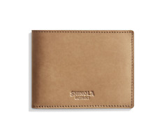 NEW - Shinola Slim Bifold Wallet in Outrigger Leather - Light Tan