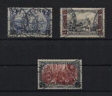 Deutsche Post in der Türkei 21, 22 und 23 gestempelt alle geprüft (B05535)