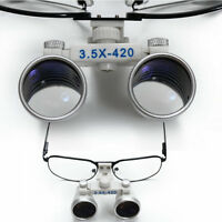 Dental Surgical Medical Binocular Loupes 3.5X 420mm Optical Reading Glass Loupes