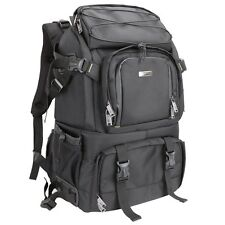 Evecase Extra Large DSLR Camera/Laptop Travel Backpack Gadget Bag w/ Rain Cover