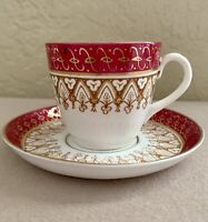 Thomas Morris TM Staffordshire England Demitasse Teacup and Saucer