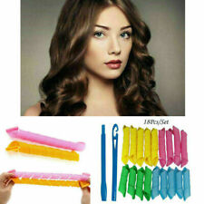 New 18Pcs Set Long Hair Curlers Curl Leverage Rollers Spiral Tool 30cm+20cm UK