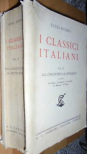 LUIGI RUSSO-I CLASSICI ITALIANI VOL.II CINQUECENTO/SETTECENTO-SANSONI 1941 OK!