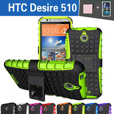 TPU Case Cover New HTC Desire 510 Silicone Shockproof Heavy Duty With Kickstand