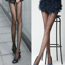 1x Womens Pantyhose Sexy Sheer Black Lace Mini Dot Stockings Fishnet Tights Slim