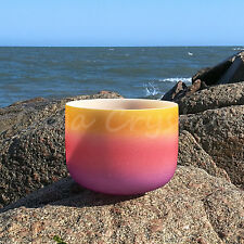 "8"" E Solar Plexus Rainbow Quartz Crystal Singing Bowl Meditation Heal Stone"