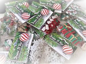Dress It Up Button - CHRISTMAS CUTE & TRADITIONAL 56 options *See Offer*