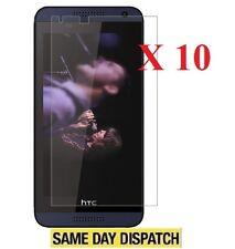 10 x DELANTERO Funda Protector pantalla transparente Film para HTC Desire 610 &