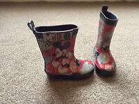 Childrens Disney Mickey Mouse Wellies Wellington Boots Red Blue Size 4 SB1