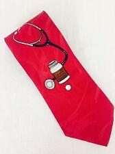 NWOT Vintage Vicky Davis 3D Take Two Aspirin Stethoscope Pharmacist Doctor Tie