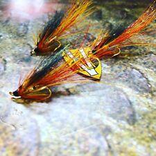 3 V Fly Size 12 Ultimate Cascade Feeler Francis Gold Salar Double Salmon Flies