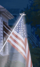 American Flag Pole Light Led Solar Powered Automatic Super Bright Night Lamp New