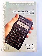 Hewlett Packard RPN Scientific Calculator Owner's Manual HP-32S