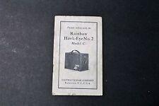 Rainbow Hawk-Eye No. 2. Model C - Eastman Kodak - Orignal Manual