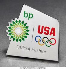 OLYMPIC PINS 2012 LONDON ENGLAND UK BP PETRO SPONSOR PARTNER TEAM USA NOC RINGS