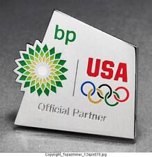 OLYMPIC PINS 2012 LONDON ENGLAND UK BP PETRO SPONSOR PARTNER TEAM USA NOC RINGS