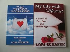 LORI SCHAFER LOT 2 EROTICA PAPERBACKS My Life with Michael & To All the Penises