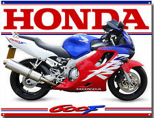 HONDA CBR 600F MOTORCYCLE METAL SIGN.CLASSIC HONDA ROAD BIKES,MAN CAVE SIGN.